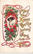 xms001339 - Christmas Post Card Old Vintage Antique Xmas Postcard