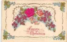 xms001343 - Christmas Post Card Old Vintage Antique Xmas Postcard