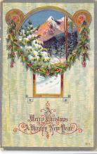 xms001345 - Christmas Post Card Old Vintage Antique Xmas Postcard