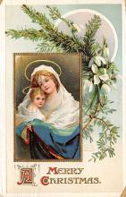 xms001361 - Christmas Post Card Old Vintage Antique Xmas Postcard