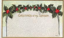 xms001363 - Christmas Post Card Old Vintage Antique Xmas Postcard
