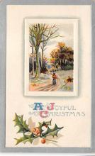 xms001369 - Christmas Post Card Old Vintage Antique Xmas Postcard
