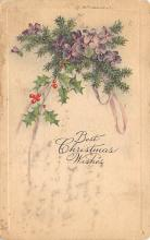 xms001371 - Christmas Post Card Old Vintage Antique Xmas Postcard