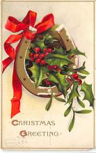 xms001377 - Christmas Post Card Old Vintage Antique Xmas Postcard