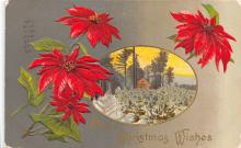 xms001379 - Christmas Post Card Old Vintage Antique Xmas Postcard