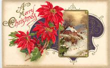 xms001381 - Christmas Post Card Old Vintage Antique Xmas Postcard