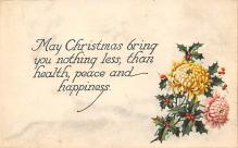 xms001389 - Christmas Post Card Old Vintage Antique Xmas Postcard