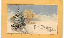 xms001391 - Christmas Post Card Old Vintage Antique Xmas Postcard