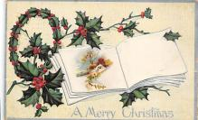 xms001395 - Christmas Post Card Old Vintage Antique Xmas Postcard