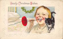 xms001401 - Christmas Post Card Old Vintage Antique Xmas Postcard