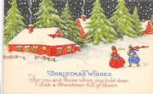 xms001405 - Christmas Post Card Old Vintage Antique Xmas Postcard
