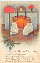 xms001415 - Christmas Post Card Old Vintage Antique Xmas Postcard