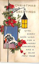 xms001417 - Christmas Post Card Old Vintage Antique Xmas Postcard