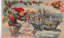 xms001419 - Christmas Post Card Old Vintage Antique Xmas Postcard
