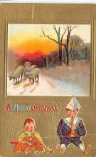 xms001421 - Christmas Post Card Old Vintage Antique Xmas Postcard