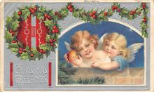 xms001425 - Christmas Post Card Old Vintage Antique Xmas Postcard