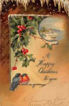 xms001433 - Christmas Post Card Old Vintage Antique Xmas Postcard