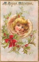 xms001435 - Christmas Post Card Old Vintage Antique Xmas Postcard