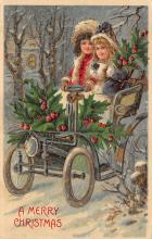 xms001439 - Christmas Post Card Old Vintage Antique Xmas Postcard