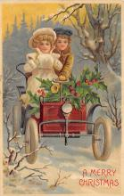 xms001441 - Christmas Post Card Old Vintage Antique Xmas Postcard
