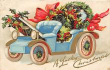 xms001445 - Christmas Post Card Old Vintage Antique Xmas Postcard