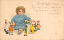 xms001447 - Christmas Post Card Old Vintage Antique Xmas Postcard