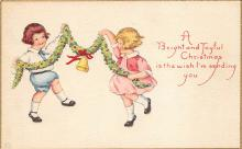 xms001449 - Christmas Post Card Old Vintage Antique Xmas Postcard