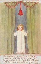 xms001451 - Christmas Post Card Old Vintage Antique Xmas Postcard