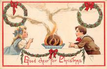 xms001457 - Christmas Post Card Old Vintage Antique Xmas Postcard