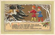 xms001459 - Christmas Post Card Old Vintage Antique Xmas Postcard