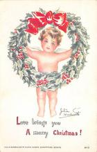 xms001465 - Christmas Post Card Old Vintage Antique Xmas Postcard