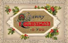 xms001469 - Christmas Post Card Old Vintage Antique Xmas Postcard