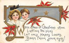 xms001473 - Christmas Post Card Old Vintage Antique Xmas Postcard