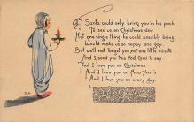 xms001477 - Christmas Post Card Old Vintage Antique Xmas Postcard