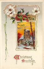 xms001479 - Christmas Post Card Old Vintage Antique Xmas Postcard