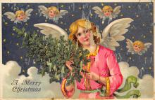 xms001481 - Christmas Post Card Old Vintage Antique Xmas Postcard