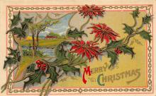 xms001487 - Christmas Post Card Old Vintage Antique Xmas Postcard