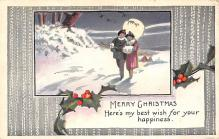xms001489 - Christmas Post Card Old Vintage Antique Xmas Postcard