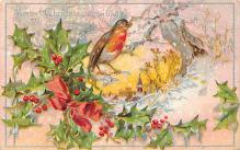 xms001503 - Christmas Post Card Old Vintage Antique Xmas Postcard