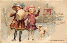 xms001511 - Christmas Post Card Old Vintage Antique Xmas Postcard