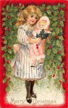 xms001513 - Christmas Post Card Old Vintage Antique Xmas Postcard