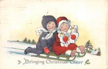 xms001515 - Christmas Post Card Old Vintage Antique Xmas Postcard