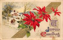 xms001521 - Christmas Post Card Old Vintage Antique Xmas Postcard