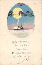 xms001535 - Christmas Post Card Old Vintage Antique Xmas Postcard