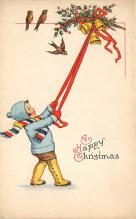 xms001539 - Christmas Post Card Old Vintage Antique Xmas Postcard