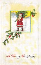 xms001541 - Christmas Post Card Old Vintage Antique Xmas Postcard
