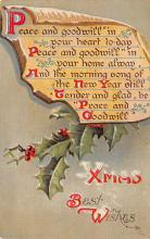 xms001543 - Christmas Post Card Old Vintage Antique Xmas Postcard