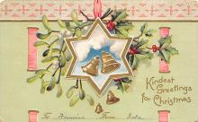 xms001545 - Christmas Post Card Old Vintage Antique Xmas Postcard