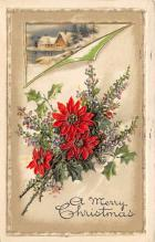 xms001547 - Christmas Post Card Old Vintage Antique Xmas Postcard