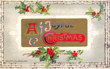 xms001549 - Christmas Post Card Old Vintage Antique Xmas Postcard